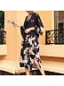 Red-crowned Crane Print Long Bathrobe