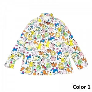 Digimon and Snoopy Printed Blouse