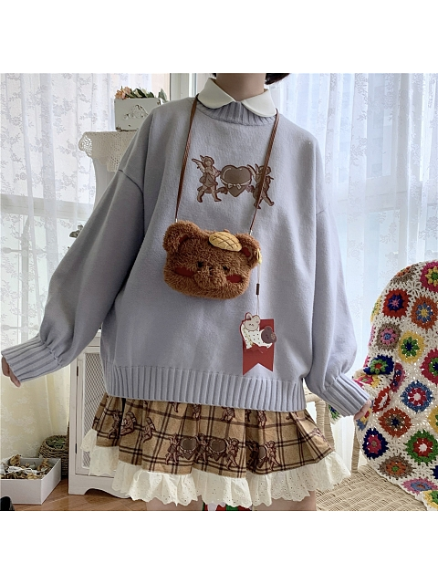 Cupid Knitting Sweater  by Labeau