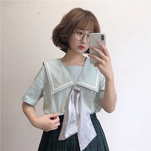 Sailor Collar Blouse by Labeau