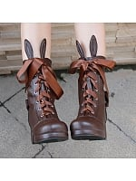 Kawaii Bunny Ears Lolita Lacing Boots