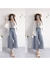 Summer Kawaii Wide-Leg Pants