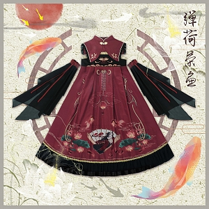 Lotus and Goldfish Chinese Style JSK by Mitsuba