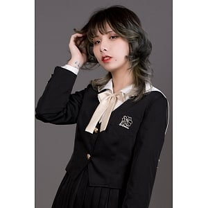 Hibiscus JK Uniform  Whithout Collar Blazer by Mitsuba