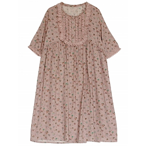 Mori Girl High Waist Floral Dress by Mucha