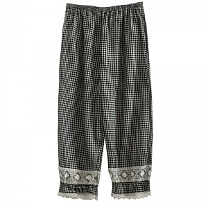 Mori Girl Plaid Pants by Mucha