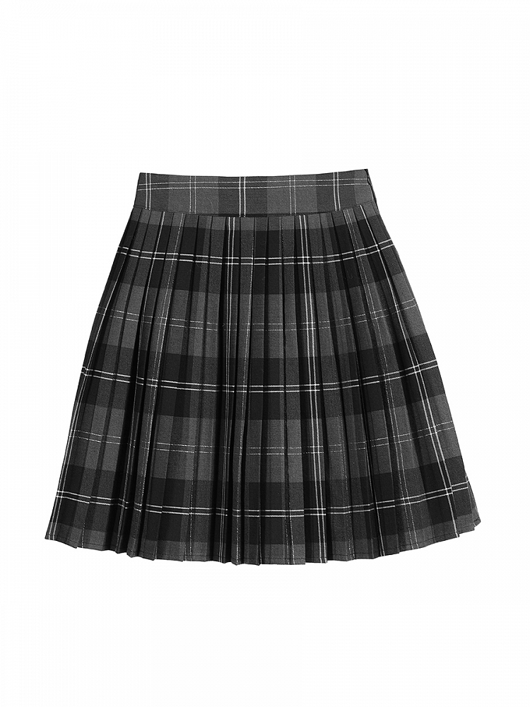 Pleated Women Skirts Comes in all sizes Peacock/'s Plume Pleated Skirt with Contrast Black Playful Shapes Top Ensemble