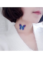 Stealth Fishing Line Chiffon Butterfly Choker