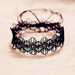 Custom Size Available Flower Lace Choker