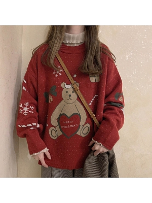 Christmas Bear Sweater by No Worries