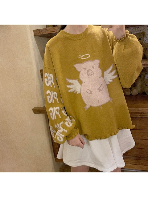Angel Pig Sweater by No Worries