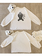 One Eye Pumpkin Bear Sweatshirt by No Worries