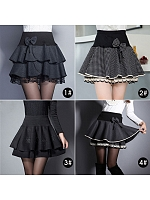 High Waist With Bowknot Decoration Skirt