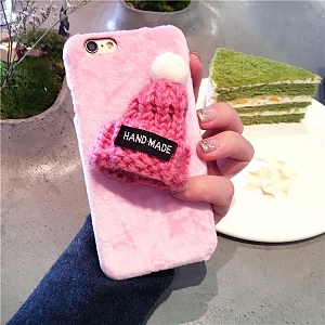 Three-Dimensional Knitted HatPhone Case