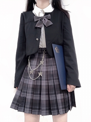 PINK SAVIOR and Junji Ito Collaboration Tomie JK Uniform Matching Bow Tie by PINK SAVIOR