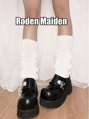 White Knitted Calf Legwear by Rozen Maiden