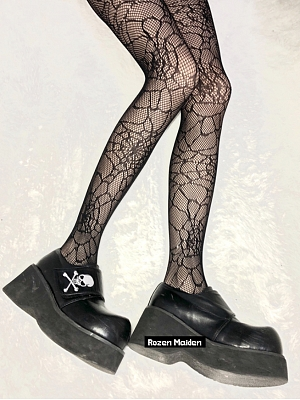Black Fishnet Dark Punk Tights by Rozen Maiden