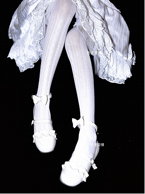 Vertical Stripes White Tights by Rozen Maiden