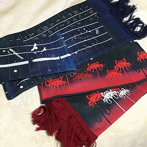 No Longer Human And Night On The Galactic Railroad Scarf