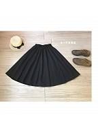 Huge Sweep Elastic Waist Midi A-Line Skirt