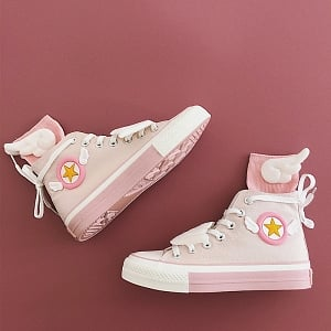 Cardcaptor Sakura High-top Canvas Shoes