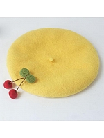 Kawaii Cherries Decorated Beret