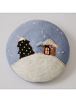 Christmas Snowy Night Beret by SOSO