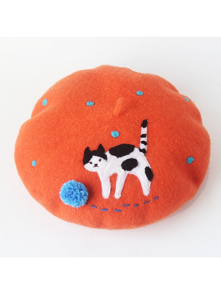 The Cat That Is Playing A Ball Beret By Soso
