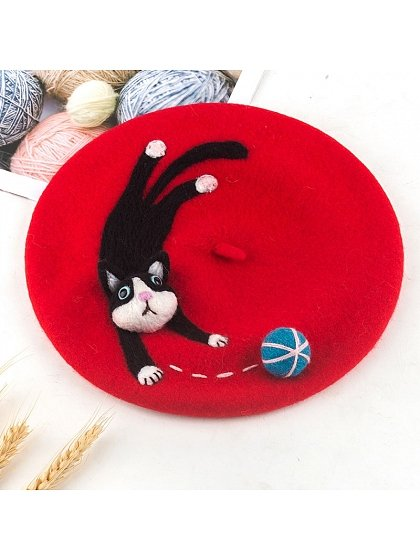 Cat Owners Woollen Beret by SOSO