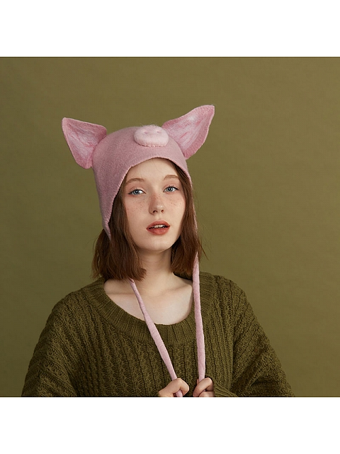 I am a Piggy Woollen Hat by SOSO