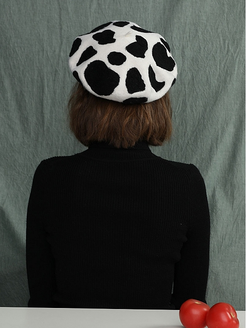 Milk Cow Woollen Beret by SOSO