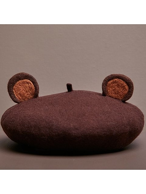 Little Bear Woollen Beret by SOSO