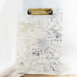Starry Sky Transparent Plastic Folder