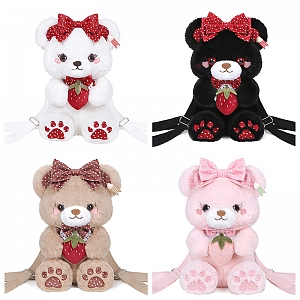 Strawberry Bear Three-ways Bag by To Alice