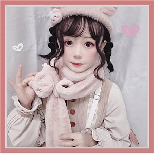 Puffy Small Animal Scarf by To Alice