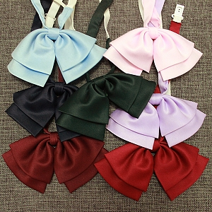 Double-layer Small Pre-tied Bow Tie