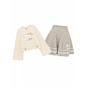 Pasture Trip Plan Sweatshirt and Skirt Set by Mori Tribe