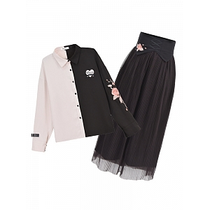 Heart of Rock Blouse and Skirt Set by Mori Tribe
