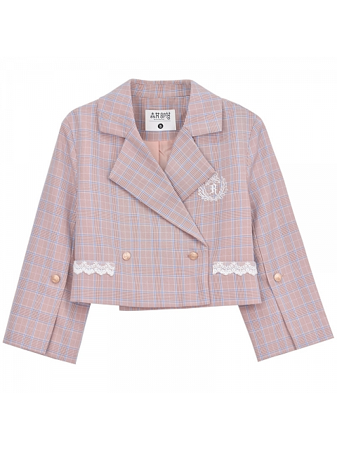 Plaid College Style Blazer by Mori Tribe