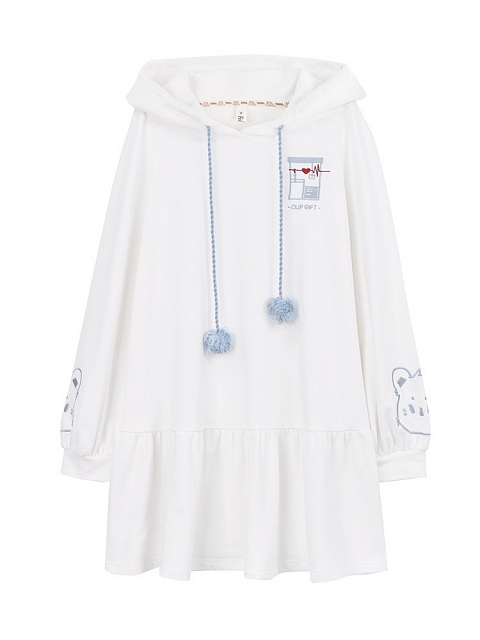 Colored Glass Puff Hoodie Dress by Mori Tribe