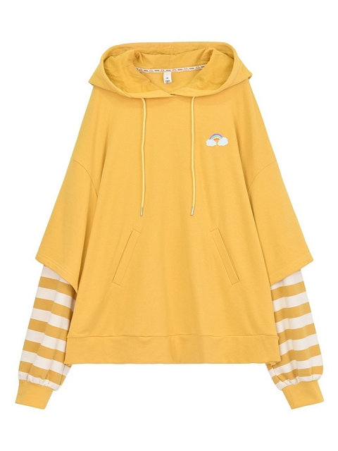 Sunshine Girl Fake Two-pieces Hoodies by Mori Tribe
