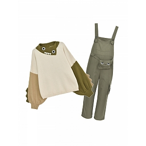 Adventure Time Sweater and Bib Pants Set by Mori Tribe