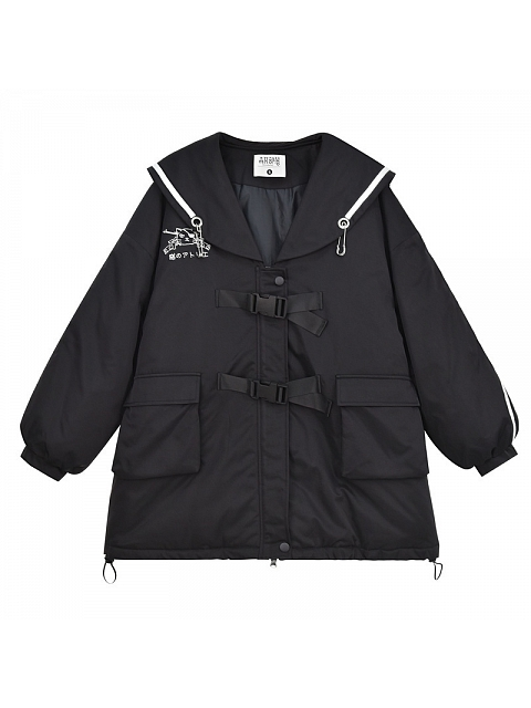 Cat Agent Collge Style Padded Jacket by Mori Tribe