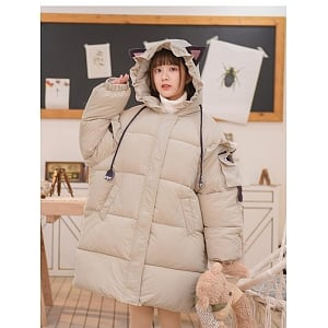 Siamese Cat Padded Jacket by Mori Tribe