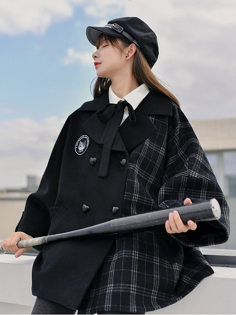 Plaid Jiont Coat by Mori Tribe