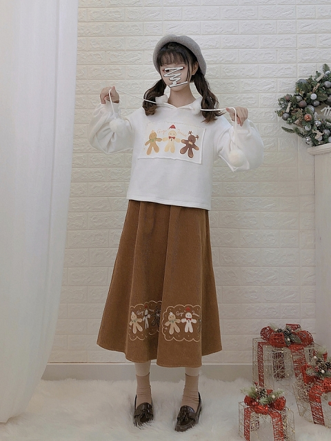 Ginger Bread Hoodie and Skirt Set by Mori Tribe