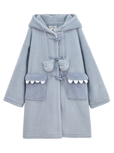 Snow Monster Horn Buckle Coat by Mori Tribe