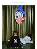 Disney Authorized Donald Duck Irregular Hem Hoodie by Mori Tribe