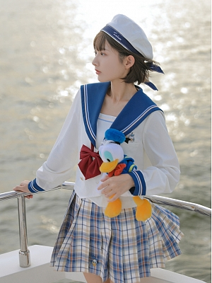 Disney Authorized Donald Duck Sailor Collar Jacket by Mori Tribe