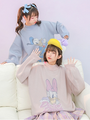 Disney Authorized Donald Duck / Daisy Duck Sweater by Mori Tribe